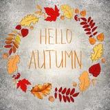 Konkreter Herbsthintergrund Stockfoto