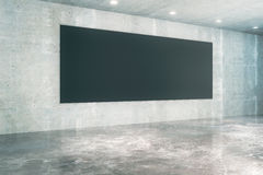 Konkreter Innenraum des schwarzen Brettes Stockfotos