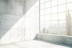 Konkreter Innenraum NYC Stockfoto