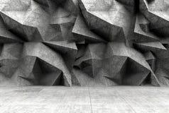 Konkreter polygonaler grauer Wandhintergrund Stockfotografie