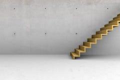 Konkreter Raum mit Treppe Lizenzfreies Stockfoto
