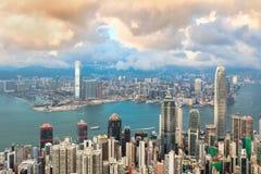 Konkreter Wald für beide Seite von Hong Kong Stockbild