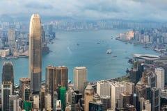 Konkreter Wald für beide Seite von Hong Kong Stockbilder