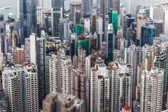 Konkreter Wald für beide Seite von Hong Kong Lizenzfreie Stockfotos
