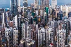 Konkreter Wald für beide Seite von Hong Kong Lizenzfreies Stockfoto