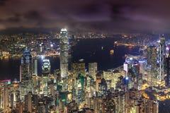 Konkreter Wald für beide Seite von Hong Kong Stockfoto