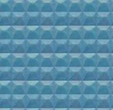 Konkreter Zaun Blauer Beton mit einem Muster Stockfotos
