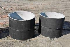 Konkretes Circle Pit Lizenzfreie Stockbilder