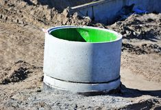 Konkretes Circle Pit Lizenzfreies Stockbild