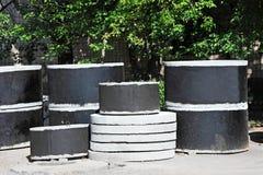 Konkretes Circle Pit Stockbilder