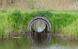 Konkretes Entwässerung-Rohr Lizenzfreie Stockfotos