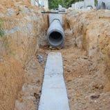 Konkretes Entwässerungbecken Stockfoto