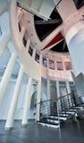 Konkretes gewundenes Treppenhaus stockbilder