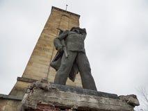 Konkretes kommunistisches Monument lizenzfreie stockbilder