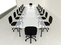Konkretes Konferenzzimmer Stockfotografie