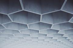 Konkretes Muster des abstrakten hellgrauen Hexagons auf Decke Wiedergabe 3d Lizenzfreies Stockbild
