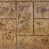 Konkretes Stempel Muster-Bodenvollenden Stockfotografie