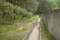 Konkretes Sturmkanal-Abwassersystem Lizenzfreies Stockfoto