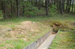 Konkretes Sturmkanal-Abwassersystem Stockbild