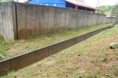 Konkretes Sturmkanal-Abwassersystem Lizenzfreie Stockfotografie