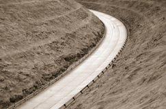 konkretną narożna highway Obrazy Royalty Free