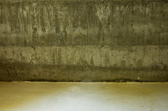 konkretną podłogę do ściany Zdjęcie Royalty Free
