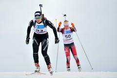 Konkurent w IBU Youth&Junior mistrzostw Światowym Biathlon Fotografia Stock