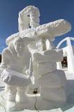 Konkurrens 2012 för Breckenridge Snowskulptur arkivbilder