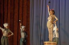 Konkurrens av den koreografiska kollektivdansen av liv i staden av Kondrovo av den Kaluga regionen i Ryssland i 2016 Royaltyfri Fotografi