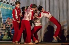 Konkurrens av den koreografiska kollektivdansen av liv i staden av Kondrovo av den Kaluga regionen i Ryssland i 2016 Royaltyfria Foton