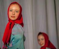 Konkurrens av den koreografiska kollektivdansen av liv i staden av Kondrovo av den Kaluga regionen i Ryssland i 2016 Royaltyfri Bild
