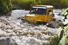 konkurrens av vägprovlastbilen Fotografering för Bildbyråer