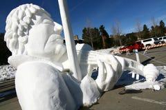 Konkurrens för Breckenridge Snowskulptur arkivbilder