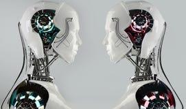 Konkurrens för robotandroidmän Royaltyfria Foton