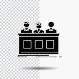 konkurrens strid, expert, domare, juryskårasymbol på genomskinlig bakgrund Svart symbol stock illustrationer