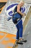 Konkurrens vaggar in klättring Royaltyfria Bilder