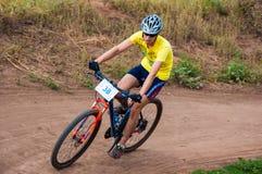 Konkurrenscyklister Royaltyfri Bild