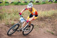Konkurrenscyklister Royaltyfria Bilder