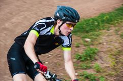 Konkurrenscyklister Arkivbilder