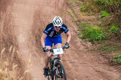 Konkurrenscyklister Arkivfoto