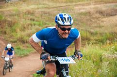 Konkurrenscyklister Royaltyfri Foto