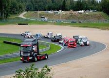 Konkurrenser av lastbilen Fotografering för Bildbyråer