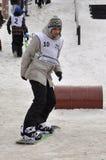 Konkurrenser i en snowboard, Tyumen Royaltyfri Foto