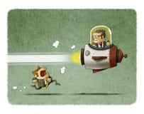 Konkurrensfördel stock illustrationer
