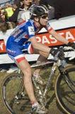 Konkurrenskraftig cyklist Fotografering för Bildbyråer