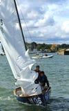 Konkurrenskraftig segling i Lake Erie Arkivbilder