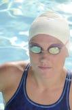 konkurrenskraftig simmare Arkivbilder