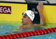 Konkurrenskraftig simmare PRENOT Josh USA Arkivbilder