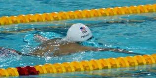 Konkurrenskraftig simmare PRENOT Josh USA Arkivbild