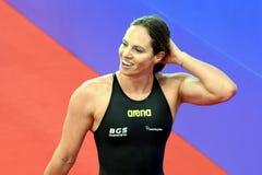 Konkurrenskraftig simmare SEEBOHM Emily AUS Arkivbilder